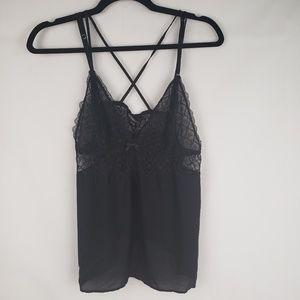 Victoria's secret lingerie lace black strappy szL